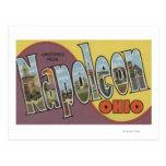 Napoleon, Ohio - Large Letter Scenes Post Card