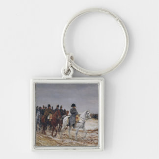 Napoleon  on Campaign in 1814, 1864 Silver-Colored Square Key Ring