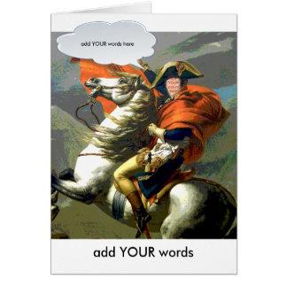Napoleon on Horsebackfaceinhole card