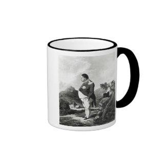 Napoleon on the island of St. Helena, 1820 Ringer Mug