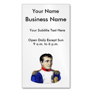 Napoleon Poster Style Drawing Magnetic Business Cards
