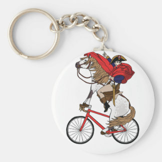 Napoleon Riding Horse Who's Riding A Bike Basic Round Button Key Ring
