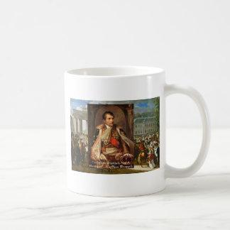 """Napoleon """"Stupidity Politics"""" Quote Gifts Tees Etc Basic White Mug"""