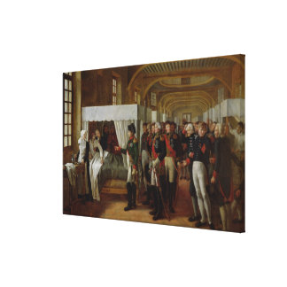 Napoleon visiting the Infirmary of Invalides Stretched Canvas Print
