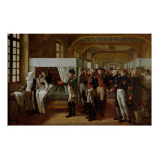 Napoleon visiting the Infirmary of Invalides Poster