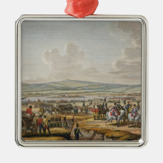 Napoleon Visiting the Siege Works at Danzig led by Silver-Colored Square Decoration