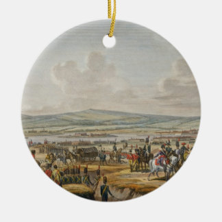 Napoleon Visiting the Siege Works at Danzig led by Round Ceramic Decoration