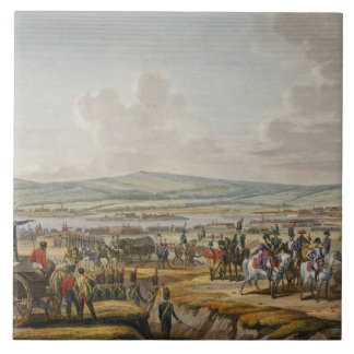 Napoleon Visiting the Siege Works at Danzig led by Tile
