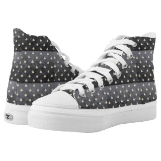 Napoleonic Lace-ups Small Black Bees Printed Shoes
