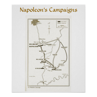 Napoleon's Campaigns, Waterloo Poster