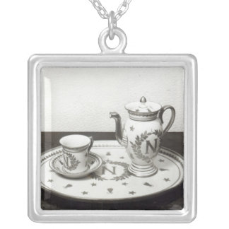 Napoleon's Coffee Set Silver Plated Necklace