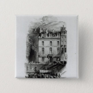 Napoleon's Lodgings on the Quai Conti, 1834-36 15 Cm Square Badge