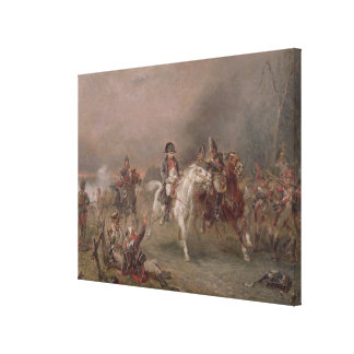Napoleon's Retreat (oil on canvas) Canvas Print