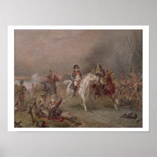 Napoleon's Retreat (oil on canvas) Poster