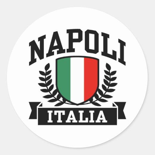 Napoli Italia Round Sticker