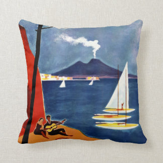 Napoli (Naples) Italy vintage travel pillow