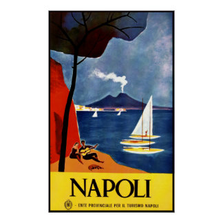 Napoli (Naples) vintage travel poster