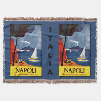 Napoli (Naples) vintage travel throw blanket