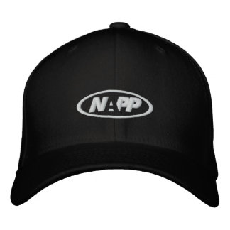 NAPP Cap in Black Embroidered Baseball Caps