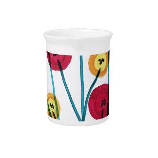 Nappen blomster med sommerfugler pitcher