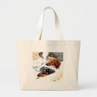 Napping Dogs Canvas Bags