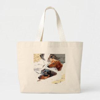 Napping Dogs Jumbo Tote Bag