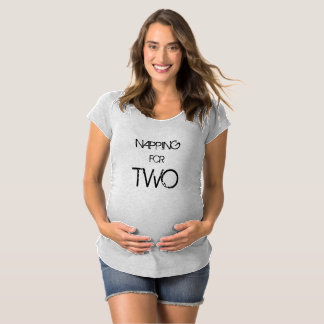 Napping for two grey maternity t shirt