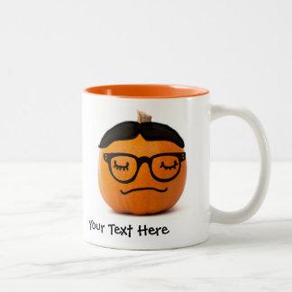 Napping Geek JackoLantern Glasses and Toupe Mug Mug