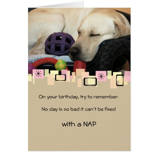 Napping Yellow Labrador Retriever All Occasion Cards
