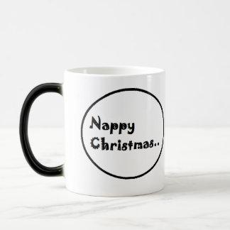Nappy christmas morphing mug