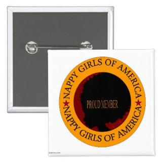 nappy girl 15 cm square badge