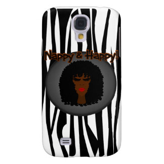 Nappy & Happy! With Beautiful Black Woman Galaxy S4 Case