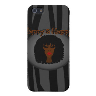 Nappy & Happy! With Beautiful Black Woman Cover For iPhone 5