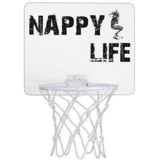 Nappy Life Mini Basketball Goal w/Black Logo. Mini Basketball Hoop