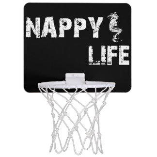 Nappy Life Mini Basketball Goal w/White Logo. Mini Basketball Hoop