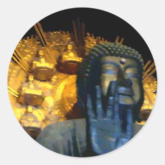 Nara Buddha / Nara Daibutsu Round Sticker
