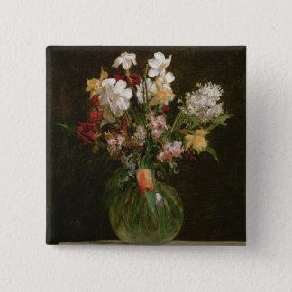 Narcisses Blancs, Jacinthes et Tulipes, 1864 15 Cm Square Badge