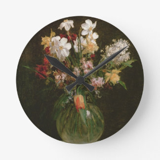 Narcisses Blancs, Jacinthes et Tulipes, 1864 Clock