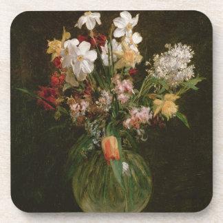Narcisses Blancs, Jacinthes et Tulipes, 1864 Beverage Coaster