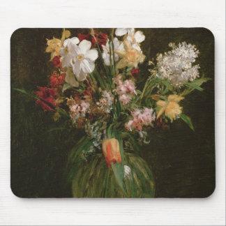 Narcisses Blancs, Jacinthes et Tulipes, 1864 Mouse Pad