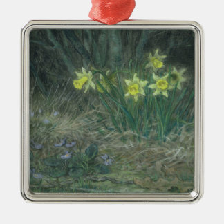 Narcissi and Violets, c.1867 Christmas Ornament