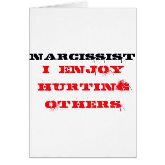 Narcissist Definition Card