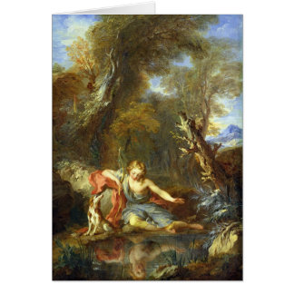 Narcissus, 1728 greeting card