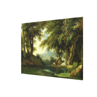 Narcissus Admiring his Reflection Canvas Print