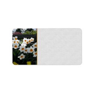 Narcissus and Wooden Fence Address Label