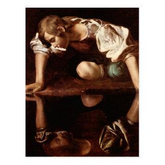 Narcissus by Caravaggio Postcard