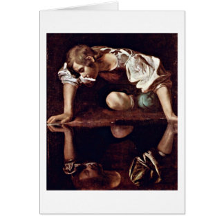 Narcissus By Michelangelo Merisi Da Caravaggio Card