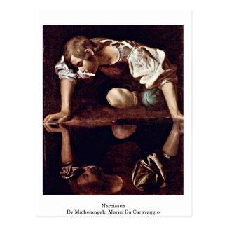 Narcissus By Michelangelo Merisi Da Caravaggio Postcard