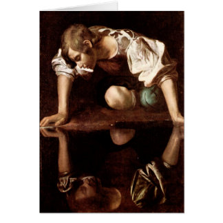 Narcissus, Caravaggio Greeting Card