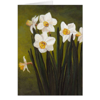 """""""Narcissus"""" Spring Flowers Art Greeting Card"""